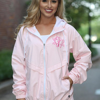 Monogrammed Rain Jacket Personalized Bridesmaids Gifts - Ladies Full Zip Rain Jacket - Ladies Monogrammed Jacket