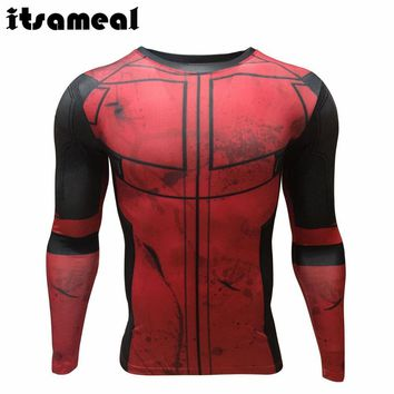 Deadpool Dead pool Taco Fun  3D Printed T-shirts Men Cosplay Costume Display Long Sleeve Compression Shirt Fit Clothing Tops Male AT_70_6
