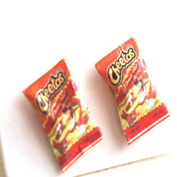 Hot Cheetos Stud Earrings