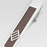 Joseph Abboud Wood Inlay Tie Bar - Tie Bars & Tie Chains | Men's Wearhouse