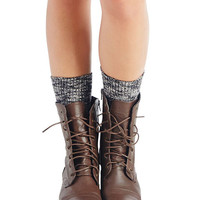 Marled Boot Socks | Wet Seal