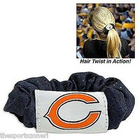 Chicago Bears Hair Twist Scrunchie Set of Two
