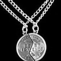 Best Friends Coin Necklace 2 chains
