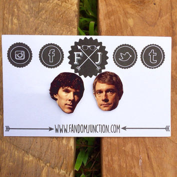 Sherlock And Watson Earrings