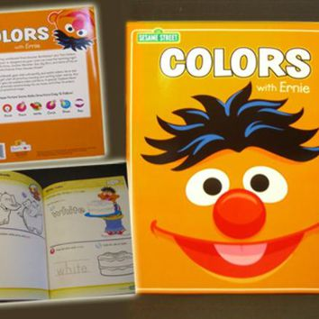sesame street colors with ernie coloring book Case of 30