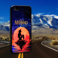 Disney The Moon Ariel The Little Mermaid Galaxy Nebula - ArtCover - Hard Print Case iPhone 4/4s, 5, 5s, 5c and Samsung S3, S4