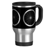 Bicycle Wheel Travel Coffee Mug (15 oz)