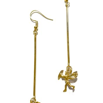 Cupid's Heart Drop Earrings