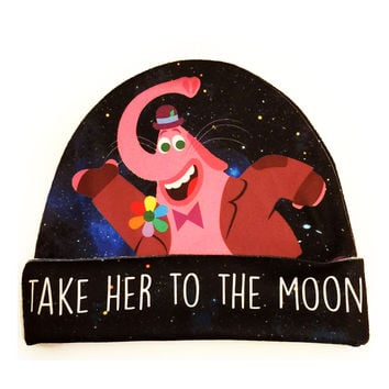 Bing Bong Inside Out Beanie | Take Her To The Moon Disney Hat
