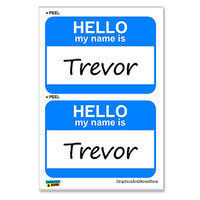 Trevor Hello My Name Is - Sheet of 2 Stickers
