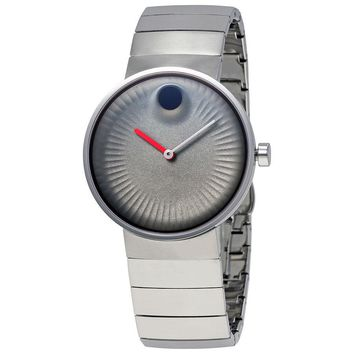Movado Edge Grey Dial Stainless Steel Mens Watch 3680008
