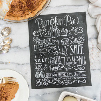 Pumpkin Pie Recipe - Print