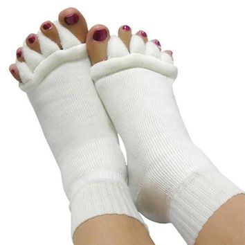 Toe Separator Pedicure Socks (Now Only In Black)