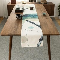 Ink Wash Table Runner
