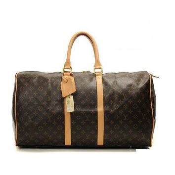 Louis Vuitton LV Women Fashion Leather Travel Satchel Handbag Shoulder Bag Big luggage Bag-1