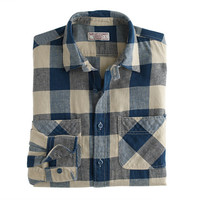 J.Crew Mens Wallace & Barnes Cotton-Linen Shirt In Buffalo Check