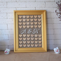 Drop box, Wedding Guest book, Guest Book Frame, Heart Guest book, Guestbook Picture, Wooden Guest book,  Personalized Guest book