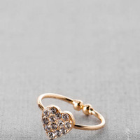 LOVERS LANE HEART MIDI RING