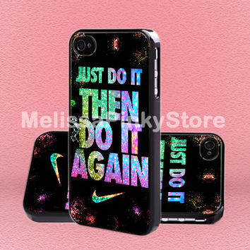 Nike Just Doit Then Doit Again  - Print on Hard Cover - iPhone 5 Case - iPhone 4/4s Case - Samsung Galaxy S3 case - Samsung Galaxy S4 case