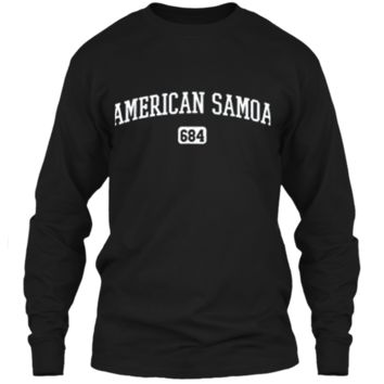 American Samoa 684 Country Area Code Samoan Pride T-Shirt LS Ultra Cotton Tshirt