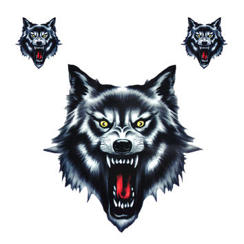 New Vinyl Wolf Head Decals Waterproof Funny Self-adhesive Sticker for Motorcycle Motorbike Car Door Stickers Truck Helmet Decor