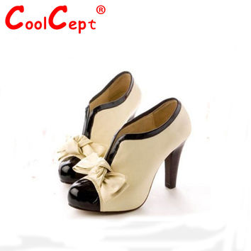 H023  breathable leather uppers ladies fashion shoes women's sexy high heels size 34-40