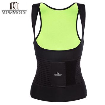 New Hot Sweat Belly Mans Slimming Vest Body Shaper Neoprene Abdomen Thermo Fat Burning Shaperwear Waist Sweat Corset Weight Loss