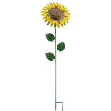 SheilaShrubs.com: Giant Rustic Flower Stake - Sunflower 10701 by Regal Art & Gift: Garden Stakes & Balancers