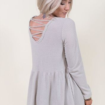 Dreamy Thermal Cage Tunic - Taupe