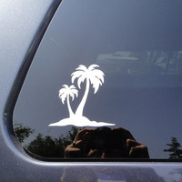 FREE SHIPPING - Palm trees car sticker tan line sticker