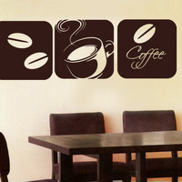 Wall Decal Vinyl Sticker Decals Art Decor  Kitchen Coffee Smell Morning Cup Sign bedroom ( r862)