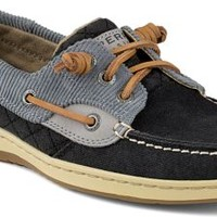 Sperry Top-Sider Ivyfish Quilted 3-Eye Boat Shoe Black, Size 9.5M  Women's Shoes