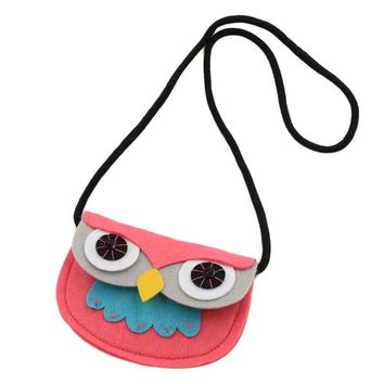 Cute Baby Girl Owl Fashion Handbags Cute Storage Bag Kids Single Shoulder Crossbody Bag For Children Clutch High Quality