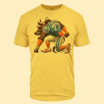 Feed Me Boar Banana Cream Tri-Blend T-Shirt