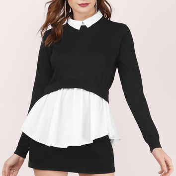 Do & Be Drop The Game Layered Blouse