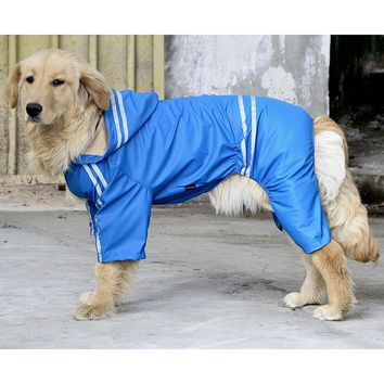 3XL 4XL 5XL 6XL 7XL Large Dog Raincoat Waterproof Pet Hoodies Jumpsuit Reflective Big Dog Rain Coat Clothes for Labrador Husky