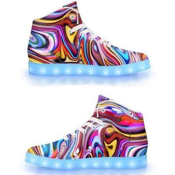 Clearance - Lucid Dreams -  APP Controlled High Top LED Shoes