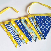 Minion Bunting - Pendant Flag Banner - Party Decor - Kids Birthday Party - Blue And Yellow Decor - Flag Garland - Photo Prop - Party Banner