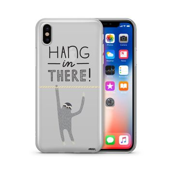 Hanging Sloth - Clear TPU Case Cover