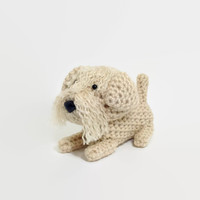 Soft Coated Wheaten Terrier Amigurumi Dog Stuffed Animal Crochet Dog Doll / Made to Order
