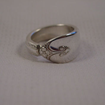 A Spoon Rings Plus Cute Spoon Ring Size 9 1/4 Exquisite Pattern Vintage Spoon and Fork Jewelry t35