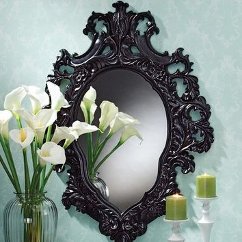 Design Toscano Madame Antoinette Ebony Salon Mirror | Wayfair