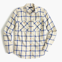 J.Crew Womens Boyfriend Shirt In Rockport Plaid