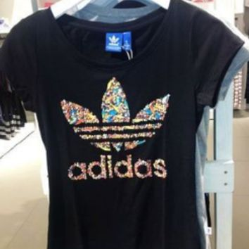 """Adidas"" Fashion Casual Pattern Letter Short Sleeve T-shirt"