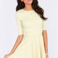 Just a Twirl Cream Dress