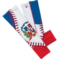 Dominican Republic Flag Baseball Lace Arm Sleeve L/XL 2-pack