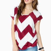 Bold Chevron Shirred Tee