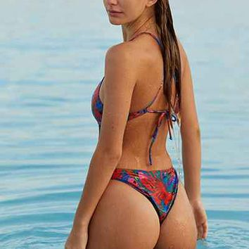 MANDALYNN Thea Parrot One-Piece Swimsuit - Urban Outfitters