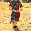 Another Time & Place Dress: Merlot