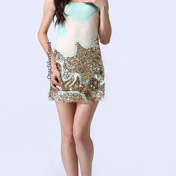 Ellena - 1920s Inspired Sequin Gatsby Dress Formal Dress f029